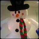 Снеговик надувной (декорация)