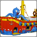 Батут Пиратский корабль